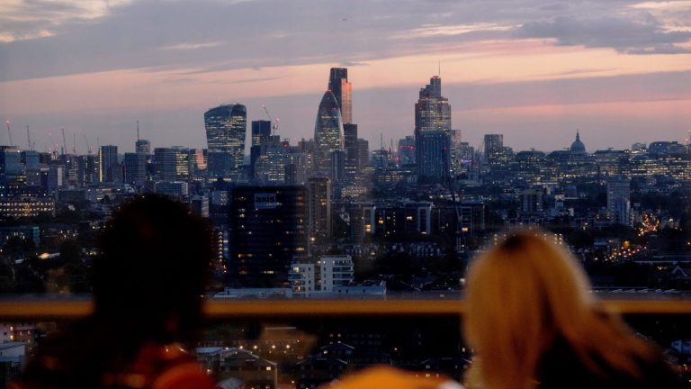 View of London in the evening
